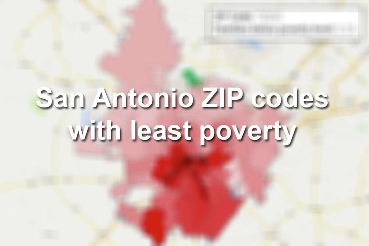 Here are 20 of the San Antonio ZIP codes with the lowest percentages of families whose income in the past 12 months fell below the poverty level. Click through to see which zip codes have the highest percentage of poverty.