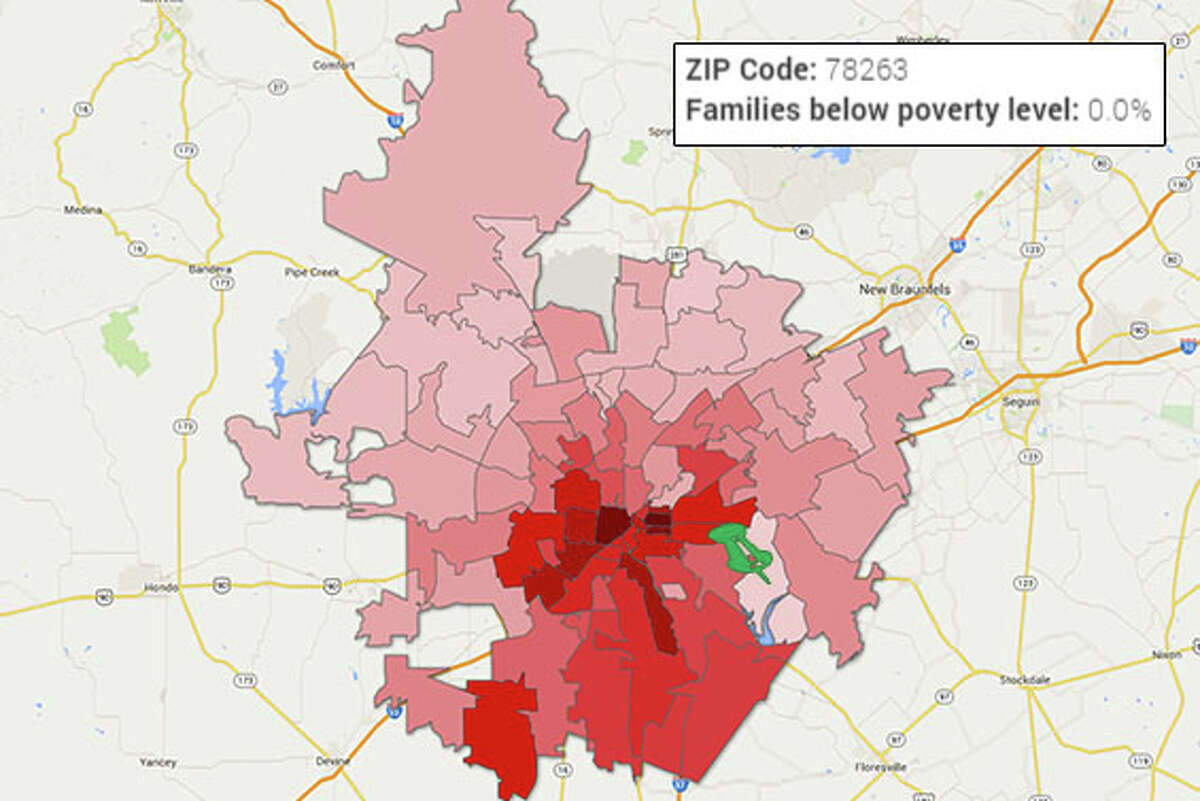 ZIP: 78263 Falls into the group of ZIP codes with lowest percentage of poverty.