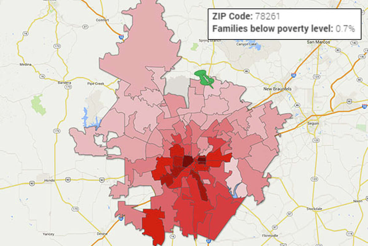 ZIP: 78261 Falls into the group of ZIP codes with lowest percentage of poverty.