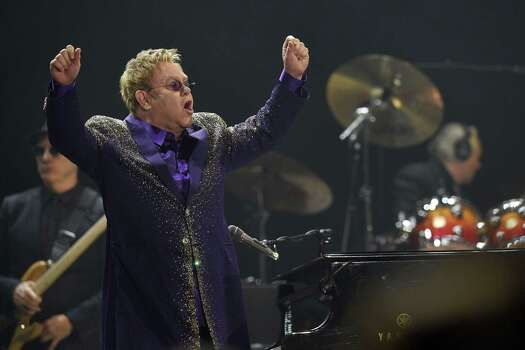 May 1Elton John: The British legend will play the Cynthia Woods Mitchell Pavilion. Photo: LLUIS GENE, Staff / AFP