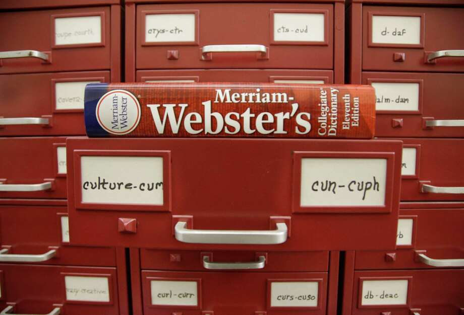 "Merriam-Webster editors started their ""word of the year"" in 2003. (AP Photo/Stephan Savoia)