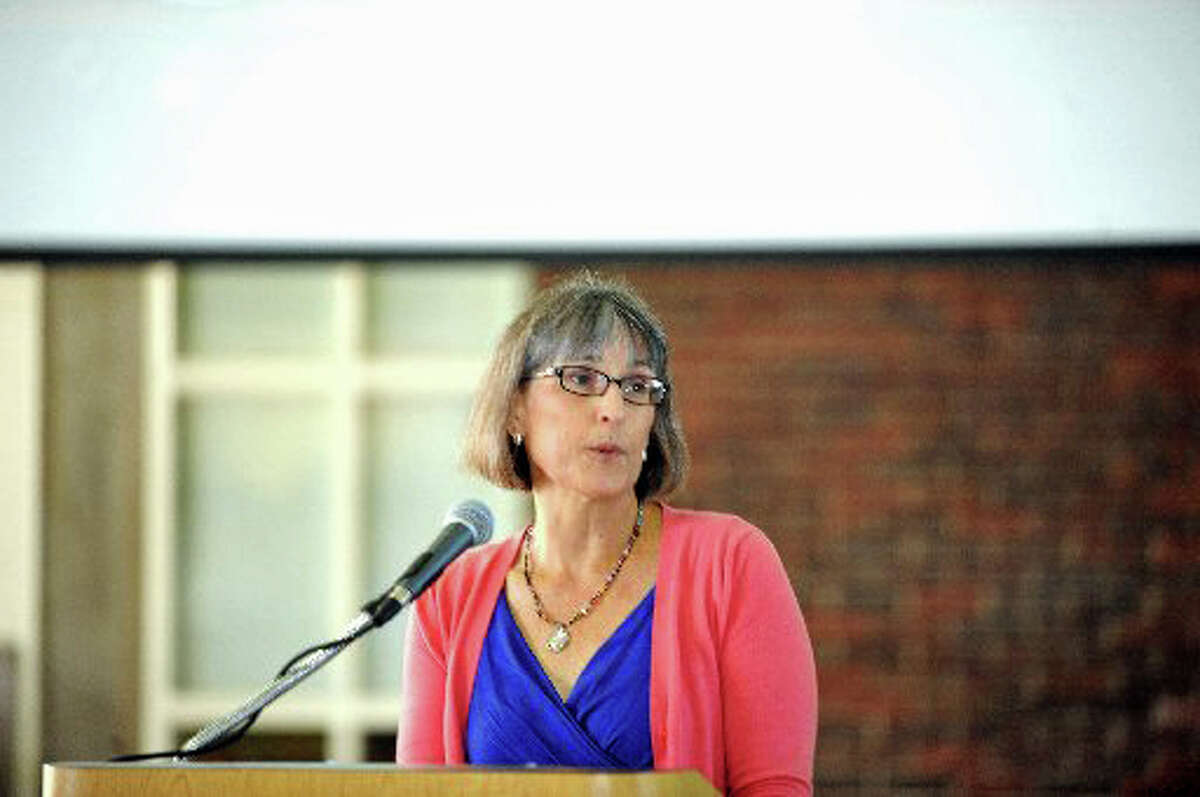 Carol Sutton, president of the Greenwich Education Association.