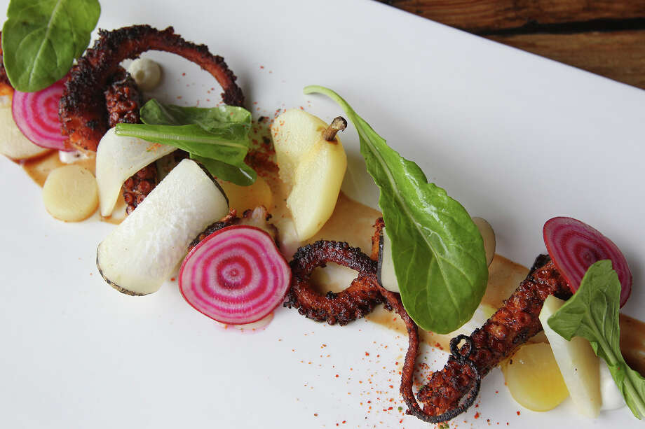 The charred octopus at Starfish restaurant Photo: Tom Reel /San Antonio Express-News / San Antonio Express-News