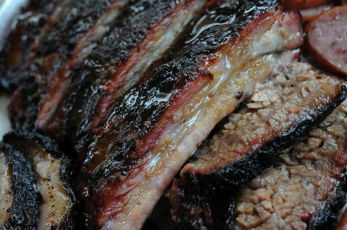 Pork ribs at Smoke Shack. With or without glaze, they're excellent.