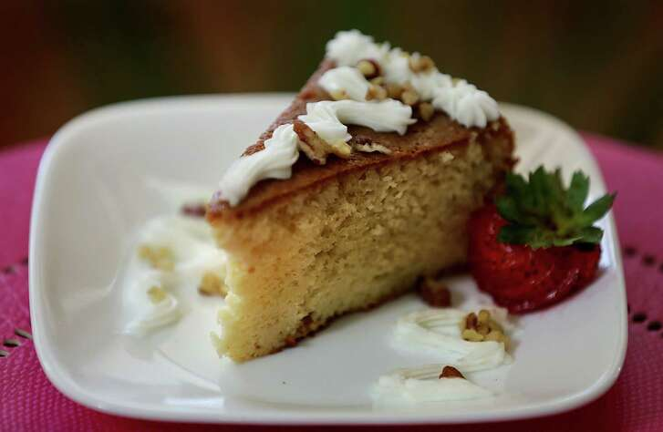 Pastel Tres Leches from Cocina Heritage which serves interior Mexican home cooking.