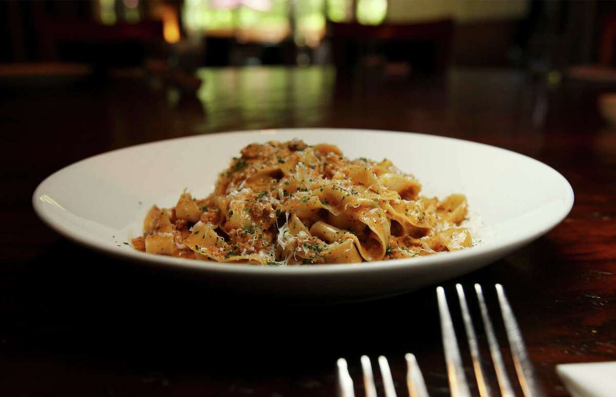 Tre Trattoria's Bolognese for Chef's Secrets on Tuesday, Apr. 29, 2014. (Kin Man Hui/San Antonio Express-News)