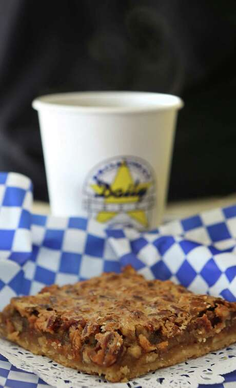 The yummy Pecan Bar from Broadway Daily Bread on DeZavala Rd. Tuesday Oct. 21, 2014. Photo: Bob Owen /San Antonio Express-News / © 2014 San Antonio Express-News