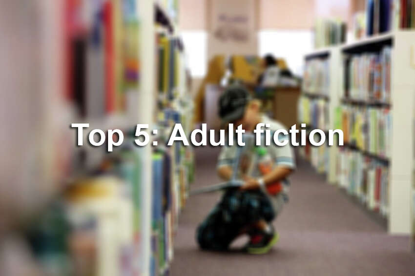 Top 5 most checked-out adult fiction.