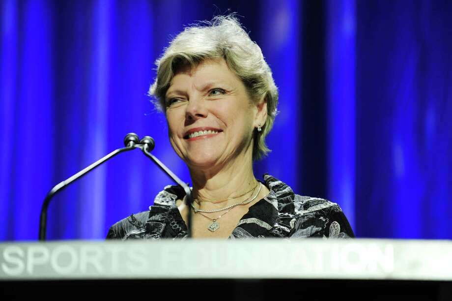 NEW YORK - OCTOBER 13:  Journalist Cokie Roberts speaks onstage during the 30th Annual Salute To Women In Sports Awards at The Waldorf=Astoria on October 13, 2009 in New York City.  (Photo by Stephen Lovekin/Getty Images for the Women\u0092s Sports Foundation) Photo: Stephen Lovekin / 2009 Getty Images