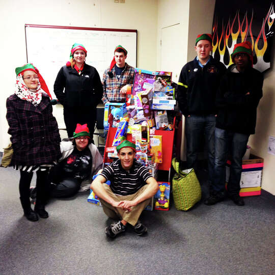 Capital Region BOCES students played the part of Santa's elves recently as they delivered a sleigh f