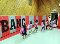 New Lebanon School kindergarten students file out of the Byram Archibald Neighborhood Center in September.