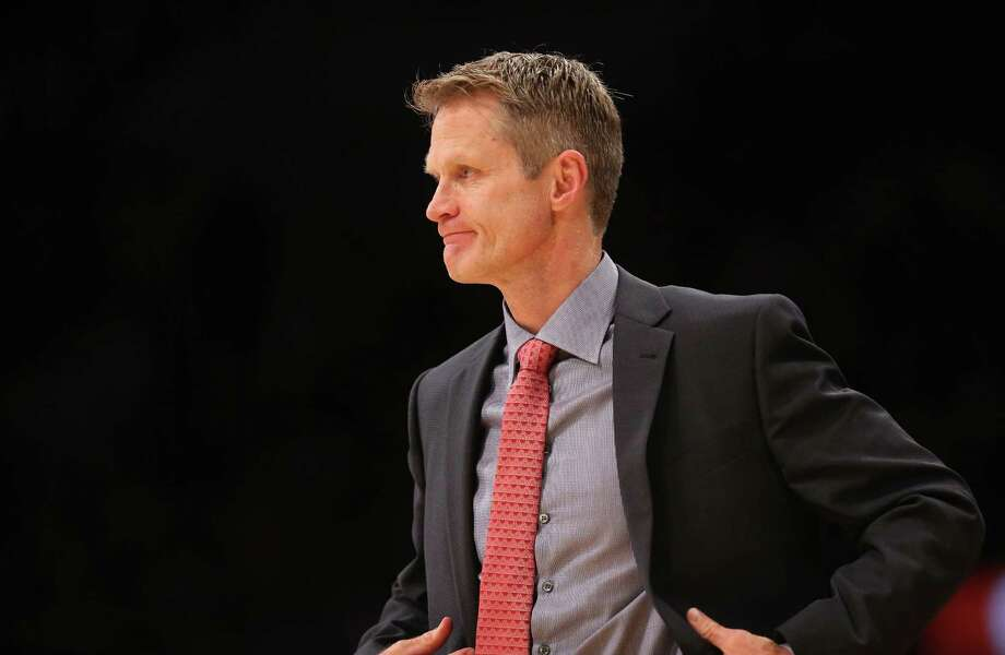 LOS ANGELES, CA - DECEMBER 23:  Head coach Steve Kerr of the Golden State Warriors looks on during the game against the Los Angeles Lakers at Staples Center on December 23, 2014 in Los Angeles, California. The Lakers won 115-105.   NOTE TO USER: User expressly acknowledges and agrees that, by downloading and or using this photograph, User is consenting to the terms and conditions of the Getty Images License Agreement.  (Photo by Stephen Dunn/Getty Images) Photo: Stephen Dunn / Getty Images / 2014 Getty Images