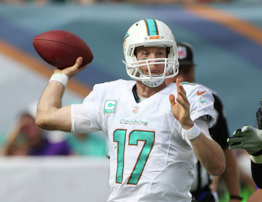 Ryan Tannehill #17 plays during an NFL football game between the Minnesota Vikings and the Miami Dolphins, Sunday, Dec. 21, 2014, in Miami Gardens, Fla. (Marc Serota/ AP Images for Panini) Photo: Marc Serota / Associated Press / FR170653 AP