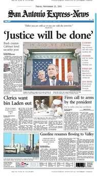 Sept. 21, 2001 Photo: Express-News File Photos