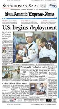 Sept. 20, 2001 Photo: Express-News File Photos