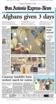 Sept. 17, 2001 Photo: Express-News File Photos