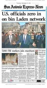 Sept. 13, 2001 Photo: Express-News File Photos