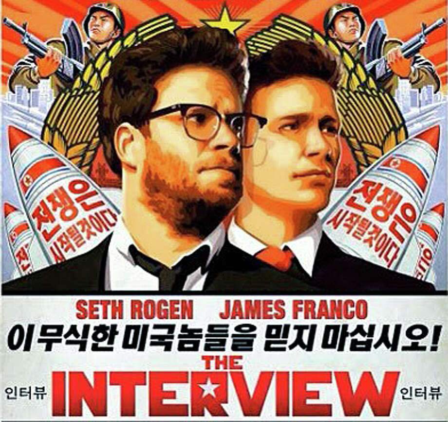 """The Interview,"" a movie comedy at the center of an international hacking controversy involving North Korea and Sony, has been released on a limited basis. The film stars Seth Rogen and James Franco. Photo: Contributed Photo / Westport News"