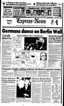 Nov. 10, 1989 Photo: Express-News File Photo