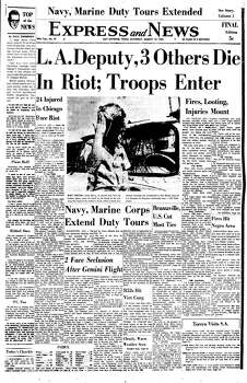 Aug. 14, 1965 Photo: Express-News File Photo