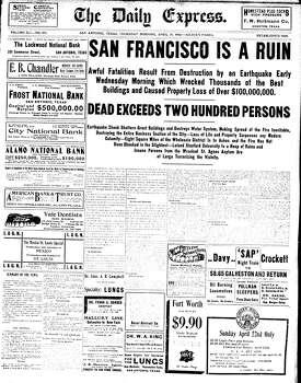 April 19, 1906 Photo: Express-News File Photo