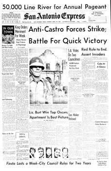 April 18, 1961 Photo: Express-News File Photo