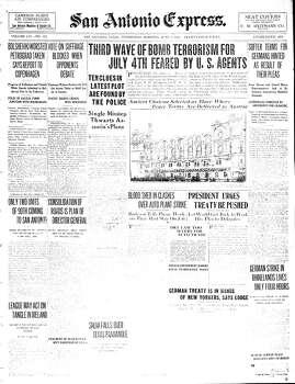June 4, 1919 Photo: Express-News File Photo