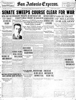 July 22, 1917 Photo: Express-News File Photo