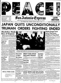 Aug. 15, 1945 Photo: Express-News File Photo