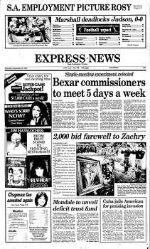 Sept. 8, 1984 Photo: Express-News File Photo