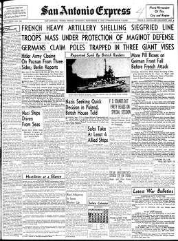 Sept. 8, 1939 Photo: Express-News File Photo
