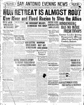 Sept. 4, 1918 Photo: Express-News File Photo