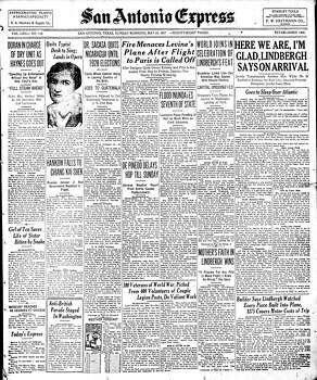 May 27, 1927 Photo: Express-News File Photo