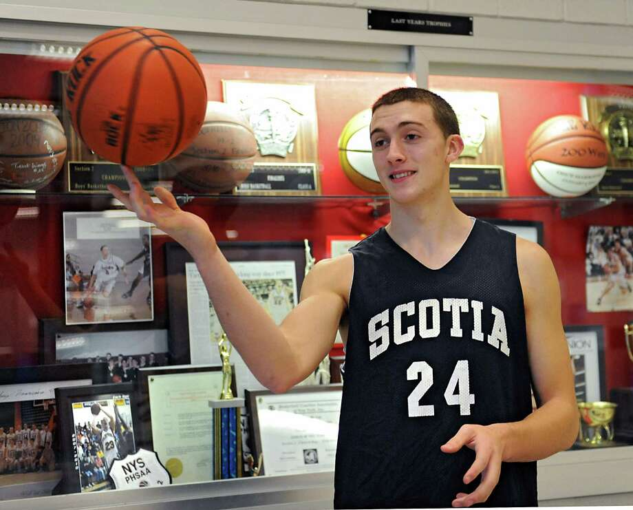 Co-sportsman of the year, Scotia basketball player Joe Cremo before practice on Tuesday, Dec. 23, 2014 in Scotia, N.Y. (Lori Van Buren / Times Union) Photo: Lori Van Buren / 00029958A