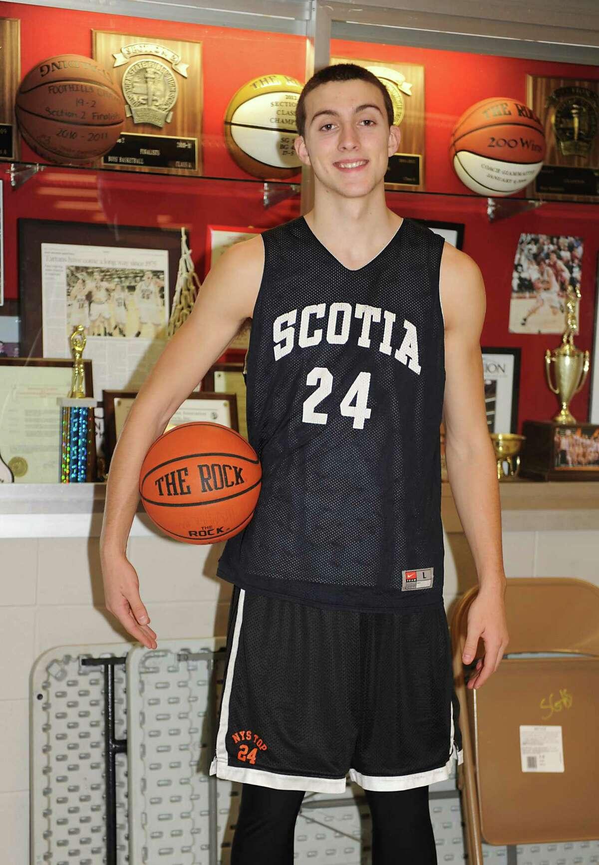 Co-sportsman of the year, Scotia basketball player Joe Cremo before practice on Tuesday, Dec. 23, 2014 in Scotia, N.Y. (Lori Van Buren / Times Union)