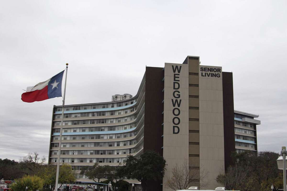 Wedgwood Senior Living Apartments, an 11-story structure at 6701 Blanco Road.