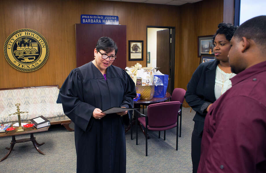 One year in, Houston municipal court weddings give couples ...