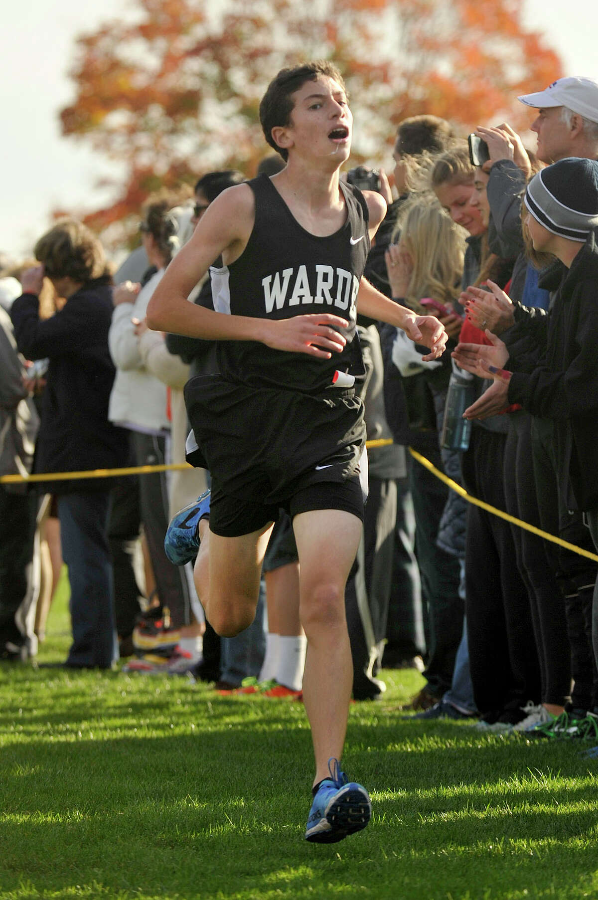 Coming off a solid cross country season where he placed ninth in the FCIAC championships, Warde's Will Brisman looks to continue that success this winter with the Mustangs' indoor track team.