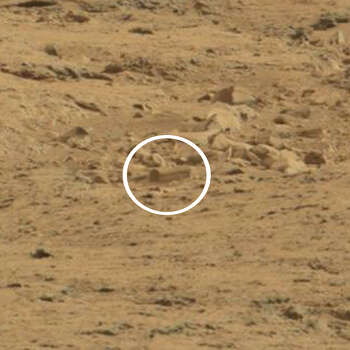 A coffin on Mars?An online group has purportedly spotted a coffin on Mars.What other oddities have been spotted on Mars? Photo: NASA