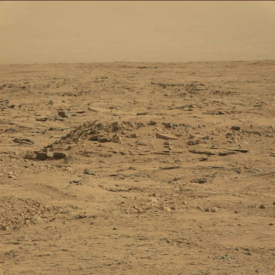 Can you see it? An online group has purportedly spotted a coffin on Mars, seen in this October 2012 image from the Mars rover Curiosity. Photo: NASA