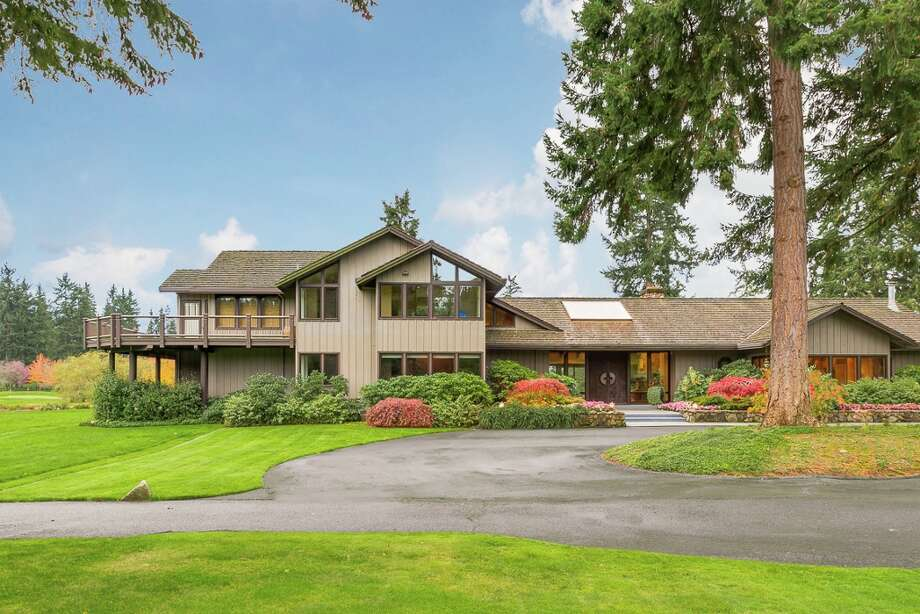 "Vashon Island's Misty Isle Farms, once owned by big GOP donor and Chairman/CEO of Services Group of America, is up for sale at $43 million.The property includes a ""landscaped art sanctuary,"" three-acre man-made lake, six ""artisan"" bridges, a private arboretum, equestrian stables and an indoor horse arena, a private airplane landing strip and helipad (you know, for your daily commute) and a driving range. It also features eight miles of hiking and horseback riding trails.The main residence alone is 6,500 square feet on the 525-acre property. Photo: Cory Holland / Holland Photography 2014"