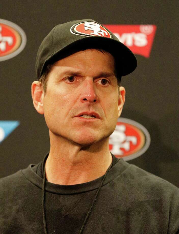 Jim Harbaugh was 58-27 as a college coach at San Diego and Stanford. Photo: Tony Avelar / Associated Press / FR155217 AP