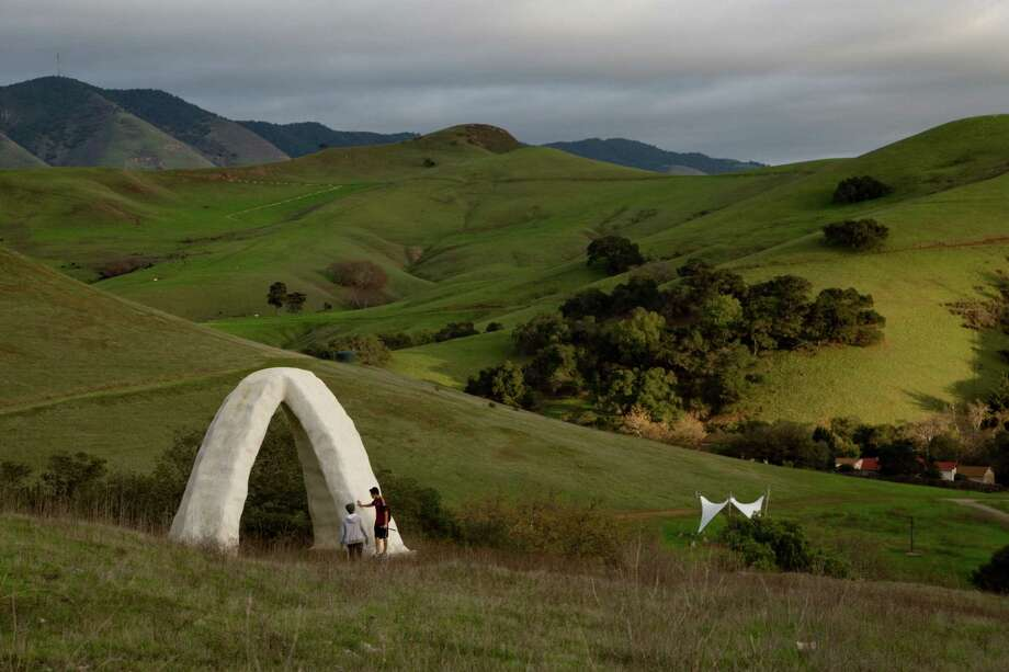 A stroll through Poly Canyon on the Cal Poly San Luis Obispo campus winds past a quirky array of structures largely created by teams of architecture and design seniors from 1963 to 2009. Photo: Kendrick Brinson / ONLINE_YES