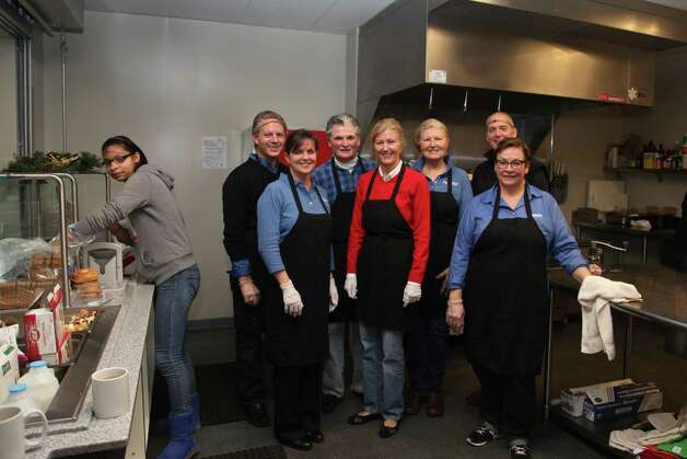 The Pioneer Bank executive management team spent the morning of Dec. 22 preparing breakfast for Unity House of Troy residents. Volunteering time were President Tom Amell, Frank Sarratori, David DeLuca, Susan Vernooy, Laura Mazzara, Pat Burch and Annmarie Perechinsky.