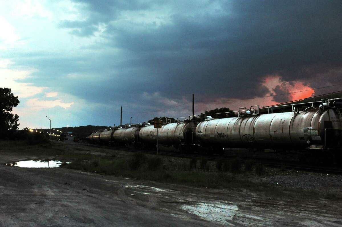 Oil tanker cars in the Port of Albany on Tuesday July 1, 2014 in Albany, N.Y. (Michael P. Farrell/Times Union)