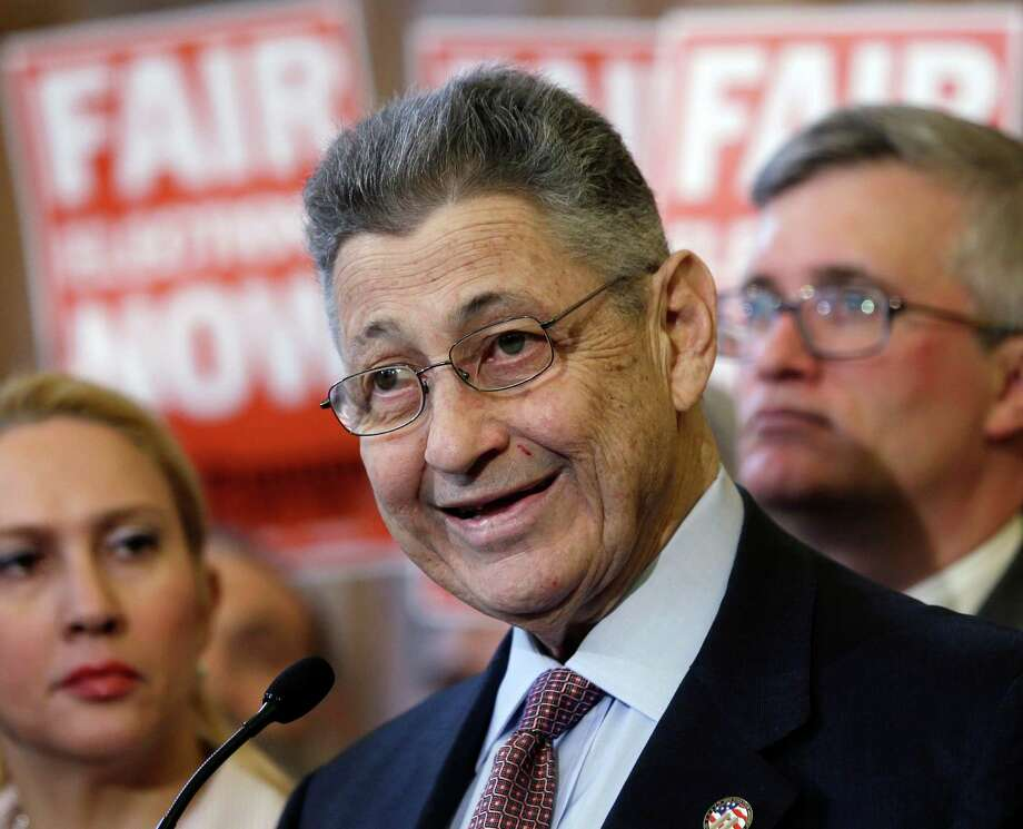 """FILE--In this April 16, 2013 file photo, Assembly Speaker Sheldon Silver, D-Manhattan, speaks during a news conference on publicly financed campaigns in Albany, N.Y. Silver says confidential settlements of sexual harassment complaints by young female staff against a legislative colleague were intended to protect the victims. Responding to special prosecutor Daniel Donovan's conclusion that the Assembly was trying to protect itself with the secrecy, Silver says his actions """"represented a good faith belief that the Assembly was acting in the interests of the victims."""" (AP Photo/Mike Groll, File) Photo: Mike Groll / AP"""