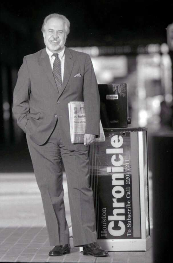 Jack Loftis, former Houston Chronicle vice president and editor, is pictured in this Dec. 3, 1987 file photo. Photo: Houston Chronicle / Houston Chronicle