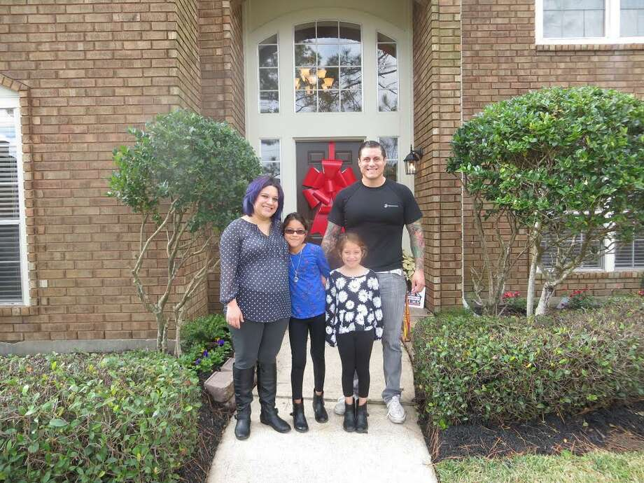 Samantha, Bethany, Trinity and Lupe Ontiveros are happy to be home in Missouri City.Samantha, Bethany, Trinity and Lupe Ontiveros are happy to be home in Missouri City. Photo: Diane Tezeno