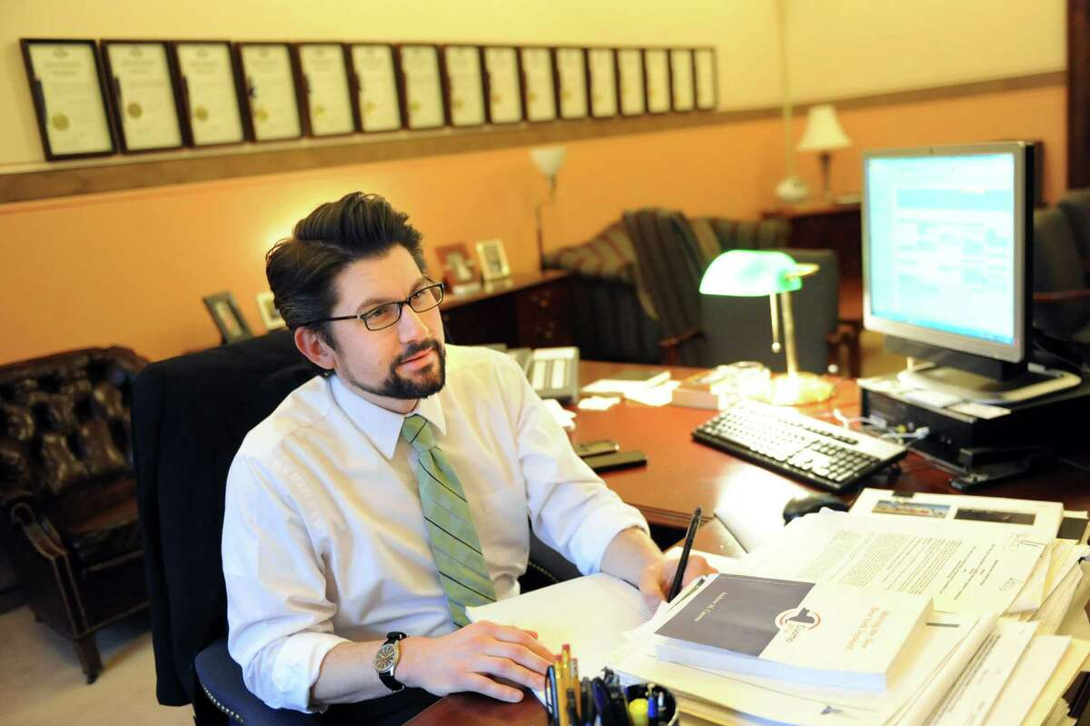 Jim Malatras, director of Operations, in his office on Thursday Dec. 18, 2014, at the Capitol in Albany, N.Y. (Cindy Schultz / Times Union)