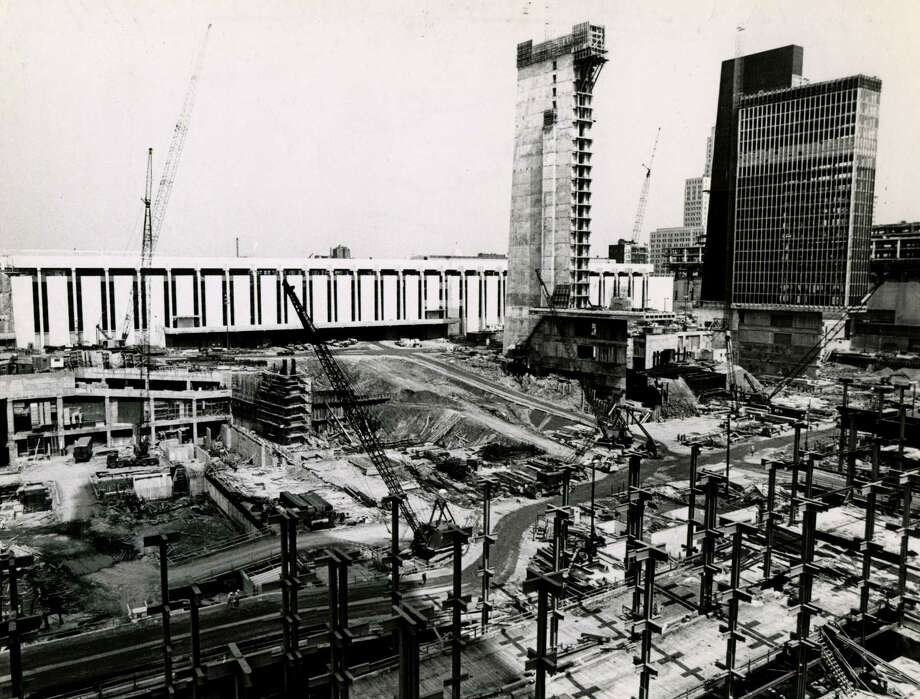 Construction of the Empire State Plaza on May, 17,1970, in Albany, N.Y.. (Times Union archive)